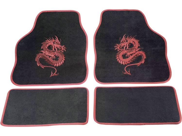 cartrend 1400 02 Voetenmat (universeel) Textiel Rood