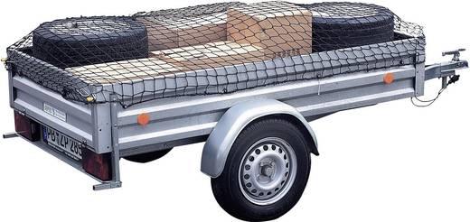 Aanhangernet (l x b) 2.1 m x 1.25 m 25164 25164 Elastisch, Met rubberen spanband