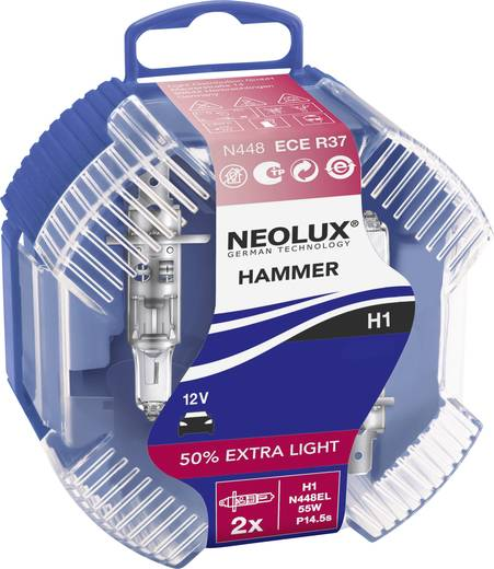 Neolux ExtraLight (White Hammer) Halogeenlamp H1 55 W