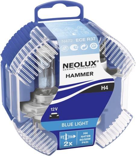 Halogeenlamp Neolux BlueLight (Blue Hammer) H4 12 V 1 paar P43t