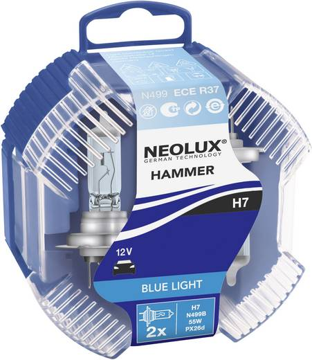Halogeenlamp Neolux BlueLight (Blue Hammer) H7 12 V 1 paar PX26d