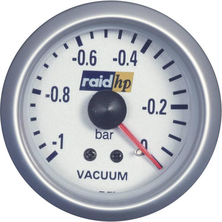 raid hp 660222 Inbouwmeter (auto) Vacuummeter Meetbereik -1 - 0 bar Silber-Serie Blauw-wit 52 mm