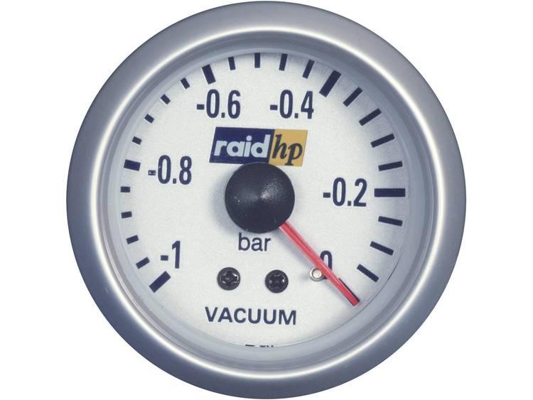 raid hp 660222 Inbouwmeter (auto) Vacuummeter Meetbereik 1 0 bar Silber Serie Blauw wit 52 mm