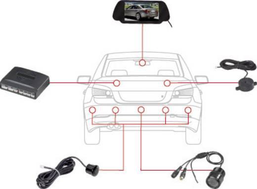 Draadloos achteruitrijcamera systeem SB885-4-T35 Afstandshulplijnen, Extra IR-verlichting, Geïntegreerd in de achteruit