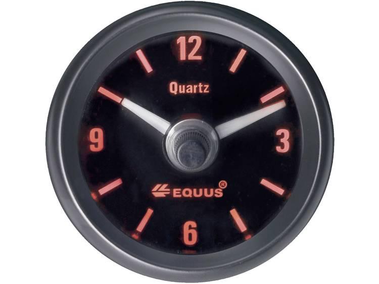 Equus 656789 Inbouwmeter (auto) Quarzklok analoog 4 LEDs Blauw, Groen, Geel, Rood 52 mm