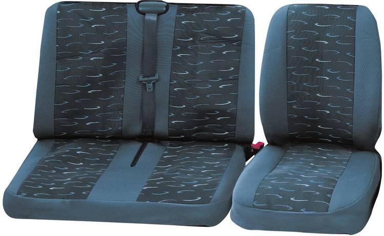 Image of cartrend 79-4020-01 Autostoelhoes 4-delig Grijs Bestuurder, Dubbele stoel