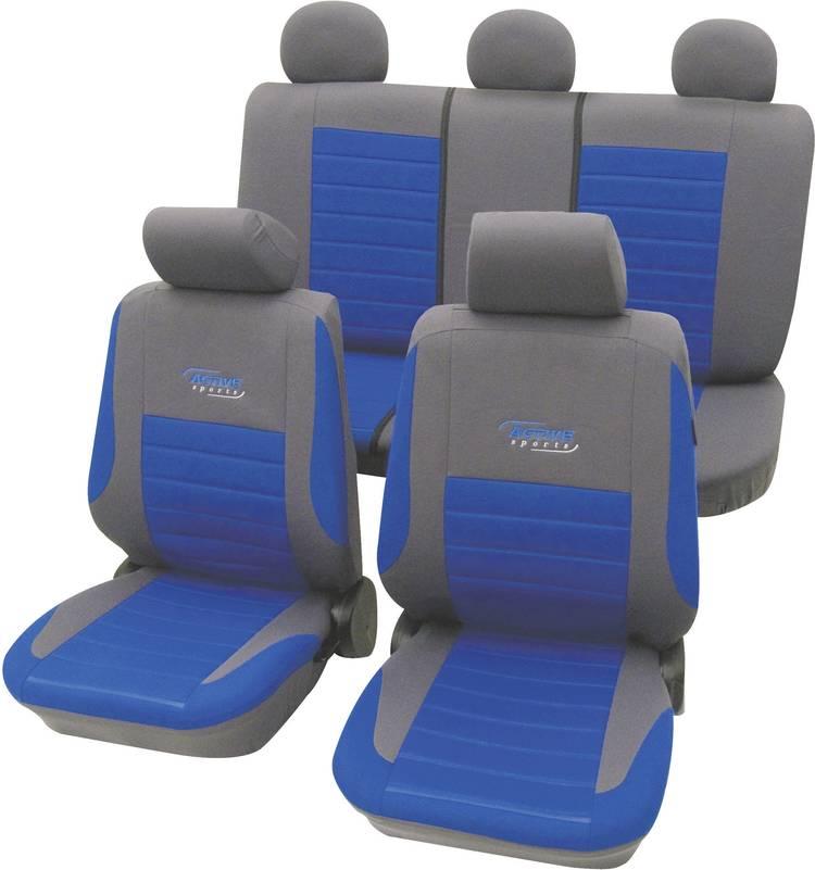 Image of cartrend 60120 Active Autostoelhoes 11-delig Polyester Blauw Bestuurder, Passagier, Achterbank