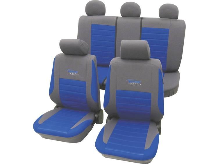 cartrend 60120 Active Autostoelhoes 11 delig Polyester Blauw Bestuurder, Passagier, Achterbank