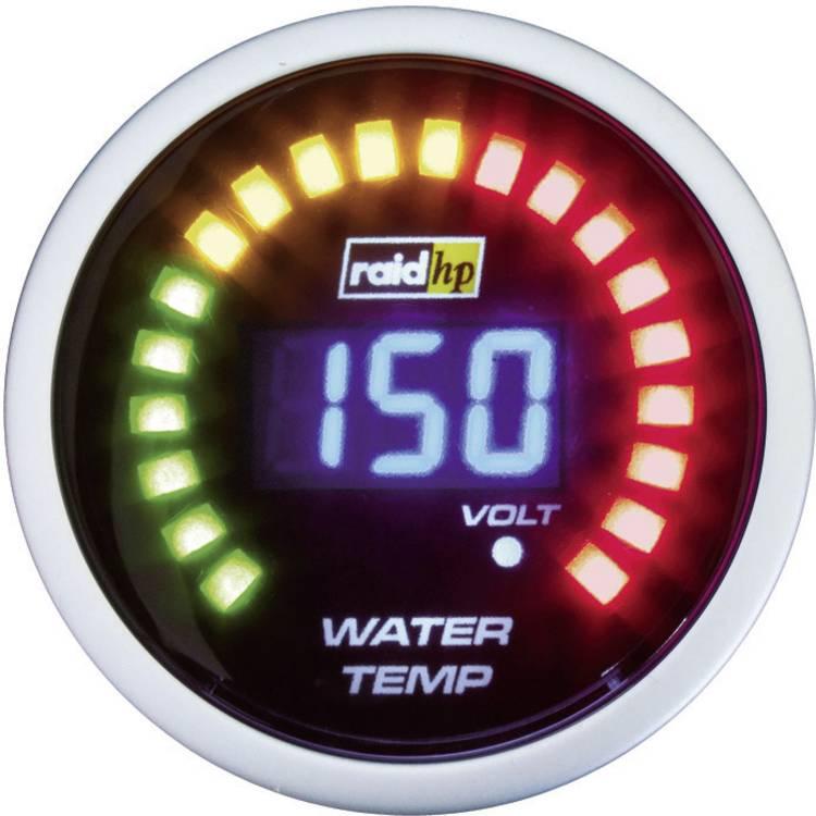 raid hp 660502 Inbouwmeter (auto) Koelwatertemperatuur Meetbereik 40 - 150 C NightFlight Digital Blue Blauw. Wit 52 mm