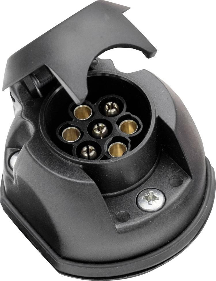 Image of Aanhangerstopcontact [Stekkerdoos, 7-polig - Stekker, 7-polig] SecoRut 20145 ABS kunststof