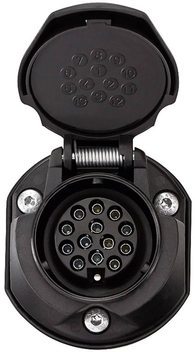 Image of Aanhangerstopcontact [Stekkerdoos, 13-polig - Stekker, 13-polig] SecoRut 30135 ABS kunststof