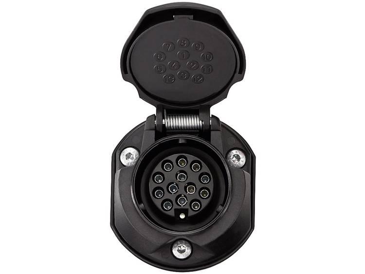 Aanhangerstopcontact [Stekkerdoos, 13 polig Stekker, 13 polig] SecoRüt 30135 ABS kunststof