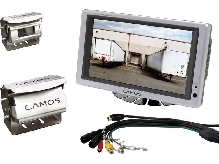 Camos RV 756 Kabelgebonden achteruitrijcamera systeem Shutter, 2 camera ingangen, Geïntegreerde microfoon, Geïntegreerde verwarming, Automatische witbalans,