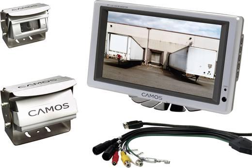 Kabelgebonden achteruitrijcamera systeem RV 756 Camos Shutter, 2 camera-ingangen, Geïntegreerde microfoon, Geïntegreerde