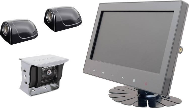 Camos RV 900 3 Kabelgebonden achteruitrijcamera systeem Extra IR-verlichting. Geïntegreerde microfoon. Geïntegreerde verwarming. Automatische witbalans Opbouw