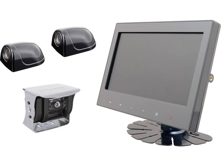Kabelgebonden achteruitrijcamera systeem Camos RV 900 3 Extra IR verlichting, Geïntegreerde microfoon, Geïntegreerde verwarming, Automatische witbalans Opbouw