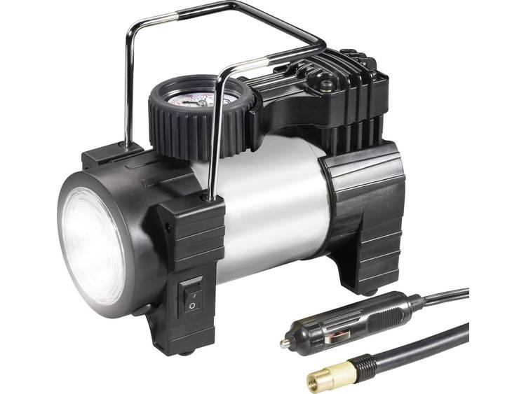 Compressor 03 12 012 10 bar Met werklamp, Analoge Manometer, Overbelastingsbeveiliging, Opbergbox tas