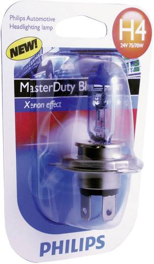 Halogeenlamp Philips MasterDuty Blue Vision H4 24 V 1 paar P43t
