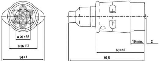 SecoRüt 7-polige metalen stekker