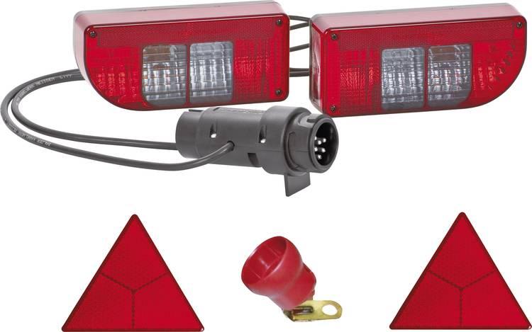 Image of Gloeilamp Aanhangerverlichtingsset Knipperlicht, Achterlicht, Remlicht, Mistachterlicht, Kentekenverlichting, Reflector achter 12 V SecoRut Helder glas