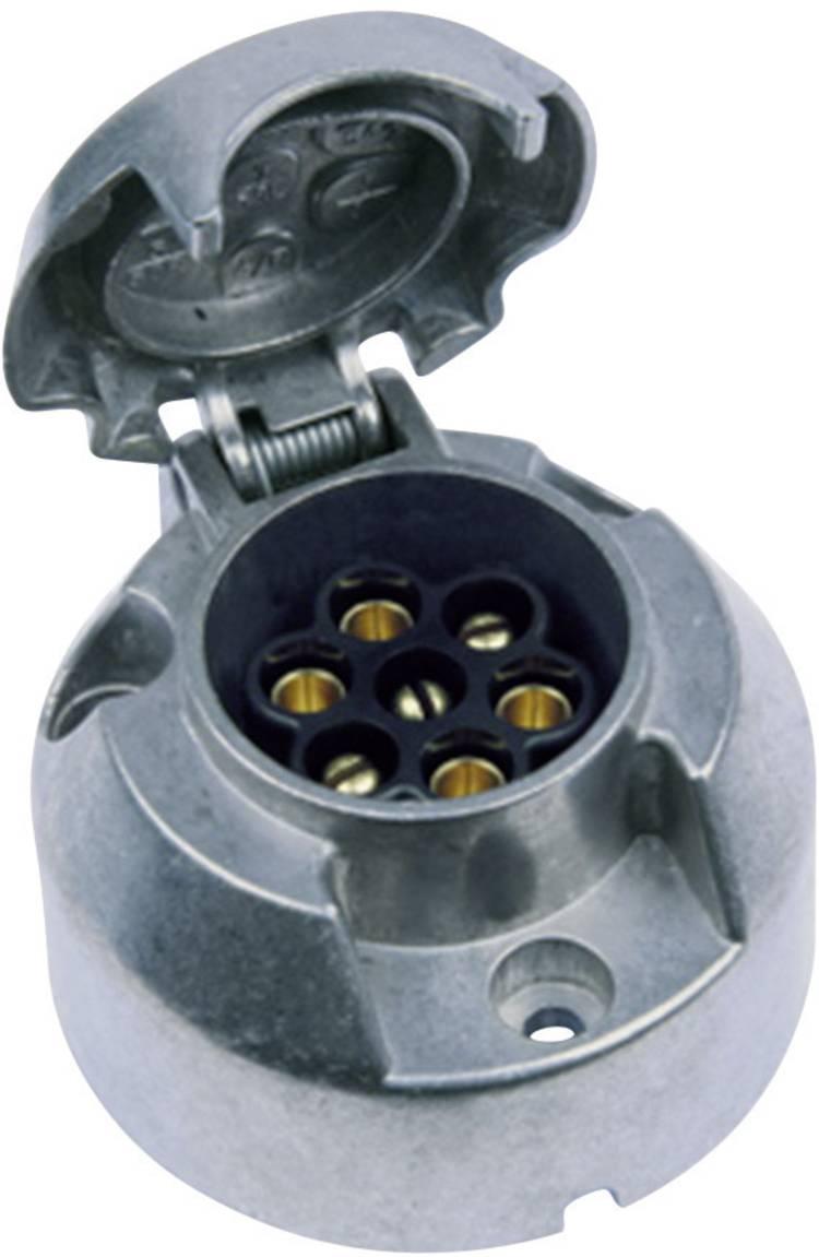 Image of Aanhangerstopcontact [Stekkerdoos, 7-polig - Stekker, 7-polig] SecoRut 20155 Aluminium