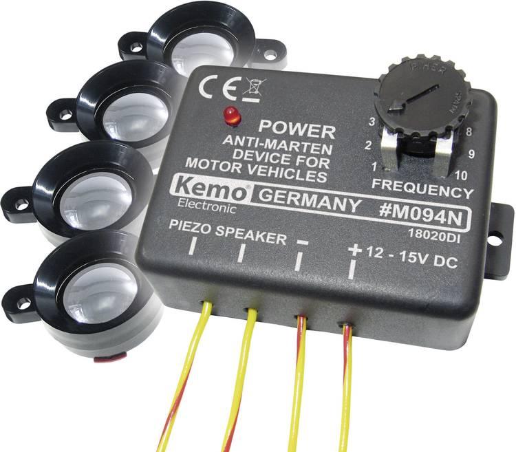 Kemo M094 Marterverschrikker Met flitslicht. Met luidspreker 12 V 1 stuks