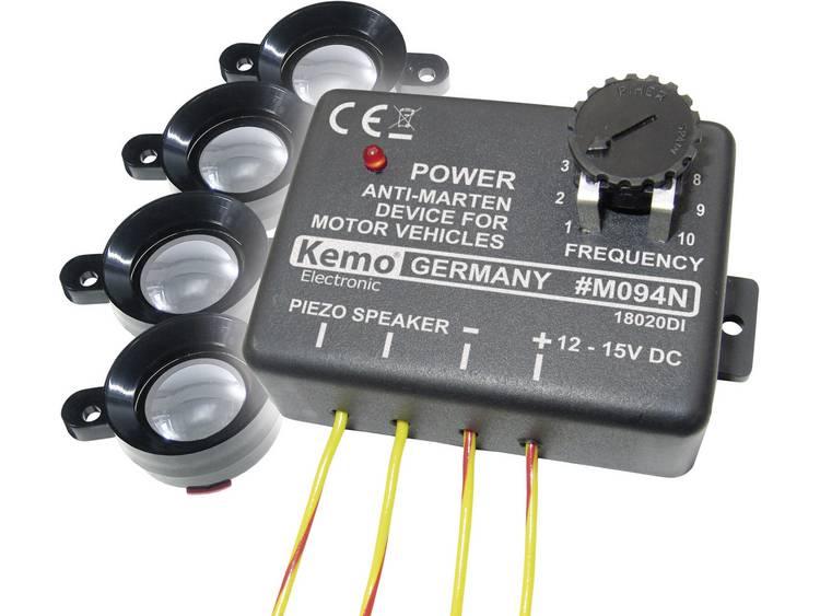 Kemo M094 Marterverschrikker Met flitslicht, Met luidspreker 12 V 1 stuks