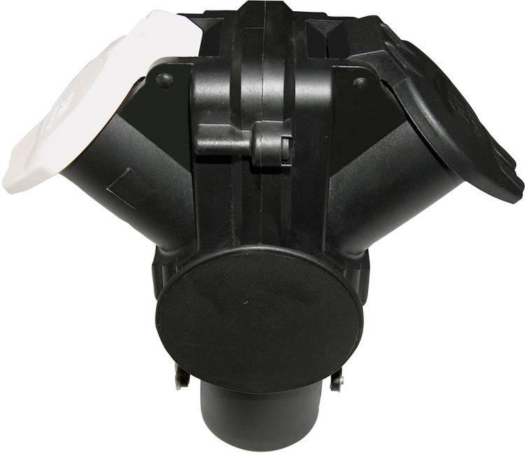 Image of Aanhangeradapter [Stekkerdoos, 15-polig - Stekker, 7-polig type S, Stekker, 7-polig type N] SecoRut 60203 ABS kunststof