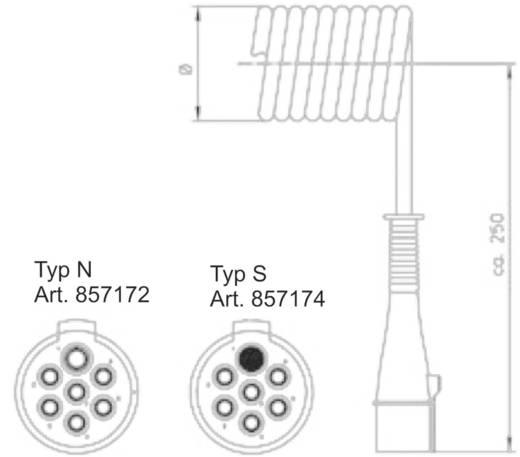 SecoRüt Spiraalvormige aansluitkabel 7-polig 24 V type N