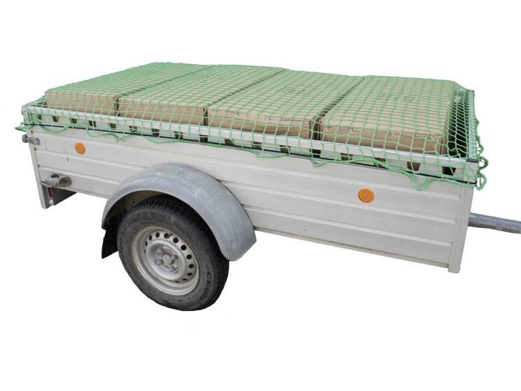 Aanhangernet (l x b) 3 m x 2 m HP Autozubehör 25163 Met rubberen spanband