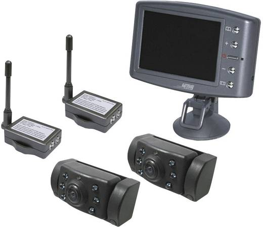 Radiografisch achteruitrijdsysteem met 2 camera's