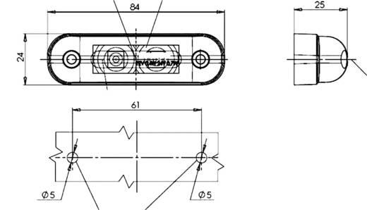 LED Markeringslicht zijkant 12 V, 24 V Rood SecoRüt Helder glas