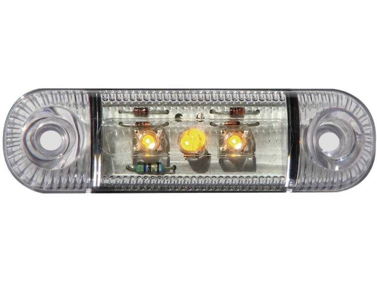 LED Markeringslicht Markeringslicht zijkant 12 V, 24 V Oranje SecoRüt Helder glas