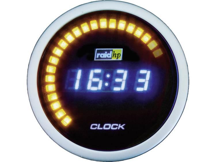 raid hp 660510 Inbouwmeter (auto) Quarzklok digitaal NightFlight Digital Blue Blauw, Wit 52 mm