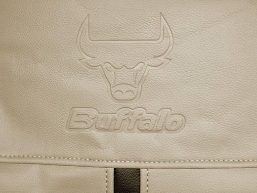 Eufab Stoelbekleding Buffalo beige Stoelhoes set 11-delig Zwart, Beige Kunstleer