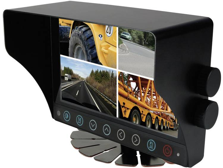 Camos CWM 700 Monitor 4 camera ingangen Opbouw