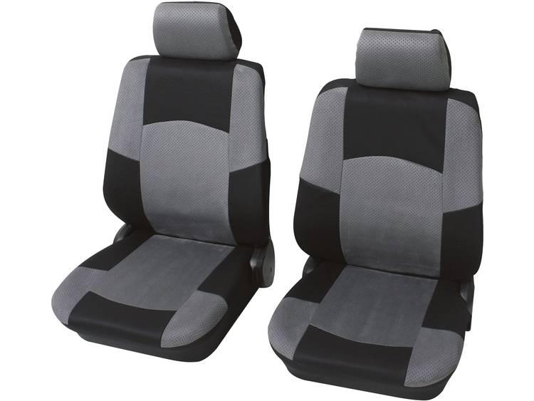 Petex 24271518 Classic Autostoelhoes 17 delig Polyester Zwart, Grijs Bestuurder, Passagier