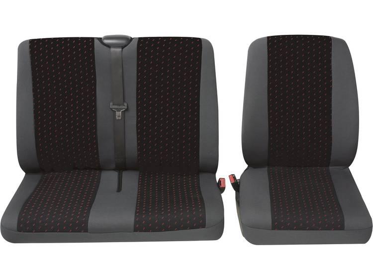 Petex 30071912 Profi 1 Autostoelhoes 4 delig Polyester Rood, Antraciet Bestuurder, Dubbele stoel
