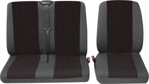 Autostoelhoes 4-delig Petex 30071912 Profi 1 Polyester Rood, Antraciet Bestuurder, Dubbele stoel