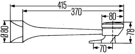 Hella Luchtdruk 2-tonige claxon 8,5 bar Highway Lucht druk
