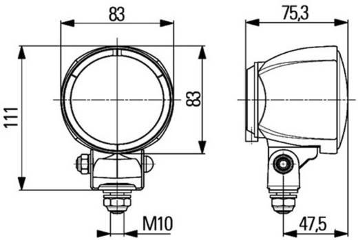 Hella H3 Modul 70 Werkschijnwerper 12 V, 24 V