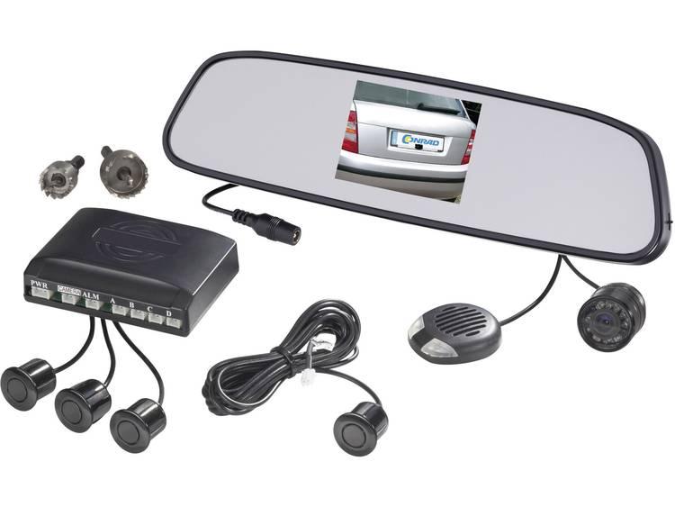 SB885 4 T35 Draadloos achteruitrijcamera systeem Afstandshulplijnen, Extra IR verlichting, Geïntegreerd in de achteruitkijkspiegel Opbouw