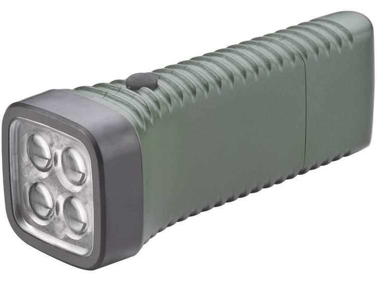 AccuLux MultiLED groen LED Zaklamp Werkt op een accu 152 g Groen