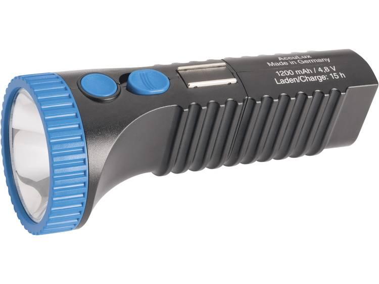 AccuLux PowerLux LED Zaklamp Werkt op een accu 200 lm 215 g Zwart-blauw
