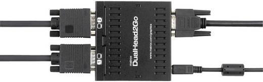 Matrox DualHead2GO D2G-A2A-IF Externe videokaart Aantal ondersteunende monitors: 2