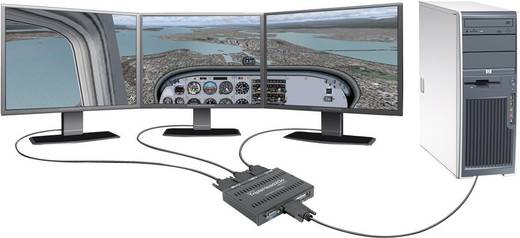 Matrox TripleHead2GO T2G-D3D-IF Externe videokaart Aantal ondersteunende monitors: 3