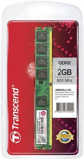 Transcend JetRam JM800QLU-2G 2 GB DDR2-RAM PC-werkgeheugen module 800 MHz 1 x 2 GB