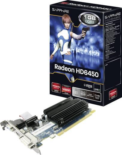 Videokaart Sapphire AMD Radeon HD6450 1 GB DDR3-RAM PCIe x16 HDMI, DVI, VGA