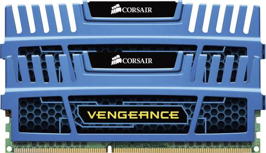 Corsair Vengeance Cerulean Blue CMZ8GX3M2A1600C9B 8 GB DDR3-RAM PC-werkgeheugen kit 1600 MHz 2 x 4 GB