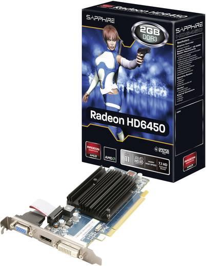 Videokaart Sapphire AMD Radeon HD6450 2 GB DDR3-RAM PCIe x16 DVI, VGA, HDMI